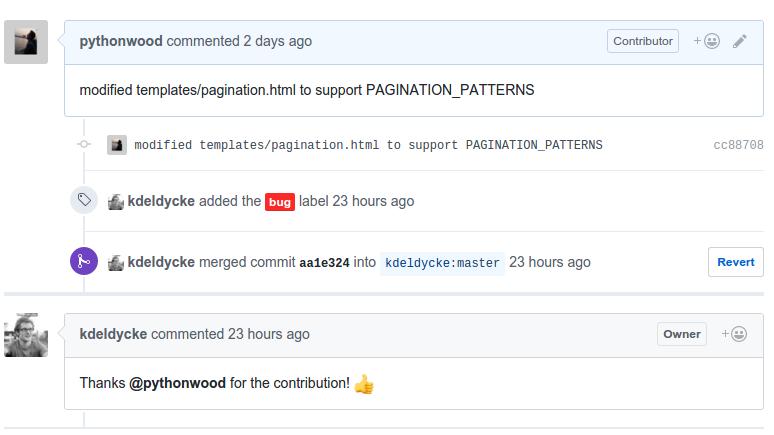 第二次开源贡献,为pelican的plumge主题修改被owner接受